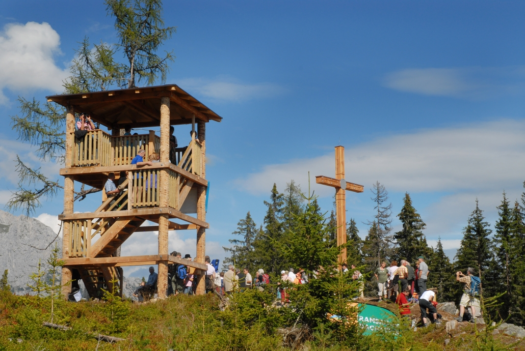 Excursion and hiking destination Rittisberg summit cross - organic farm Rupbauer