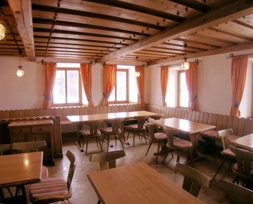 large parlor in the organic farm Rupbauer
