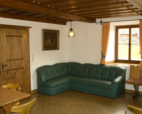 cozy farmhouse parlor in the organic farm Rupbauer