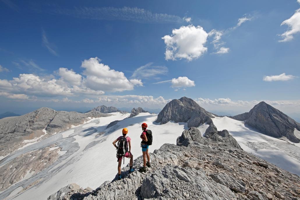 high alpine glacier world on the Dachstein - organic farm Rupbauer