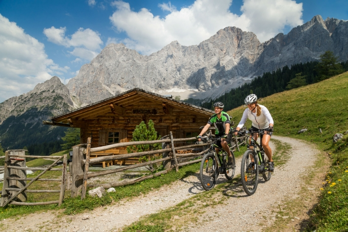 beautiful mountain bike trails in the Dachstein Mountains - organic farm Rupbauer