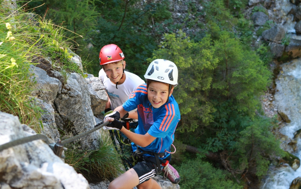 Children and Youth Climbing on the Sattelberg - Organic Farm Rupbauer