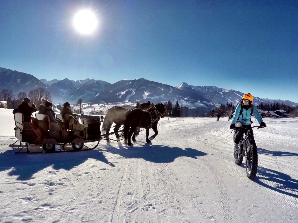 Fat biking and sleigh rides in winterholiday - organic farm Rupbauer